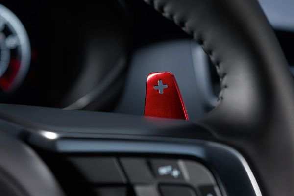 Jaguar Aluminum Red Gearshift Paddles